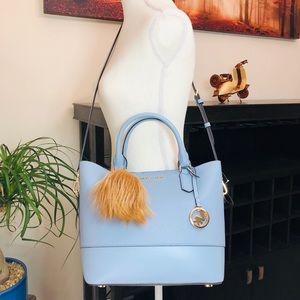 3PCS Michael Kors Trista LG Grab Bag Wallet Charms NWT